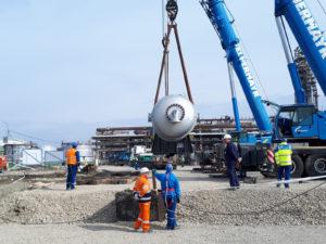trasporto reattori in Romania